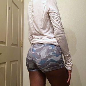 YOGASMOGA Blue Koel Vigor Yoga Shorts